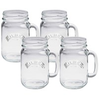 Kilner  Set of 4 Handled Jars - 400ml
