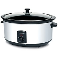 Morphy Richards  Oval Stainless Steel 6.5 Litre Slow Cooker - 48715