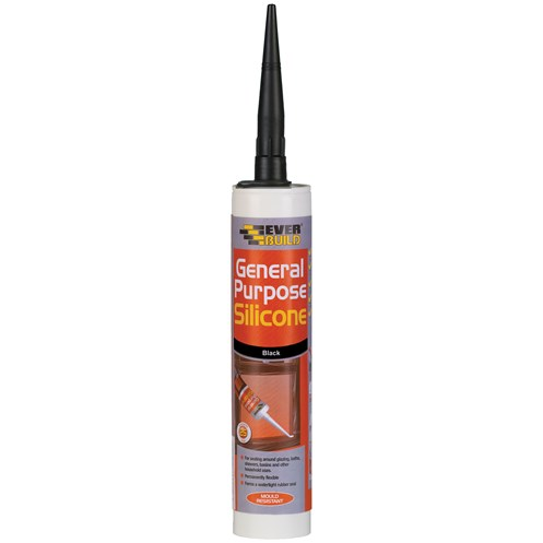 Everbuild  General Purpose Silicone 310ml - Black