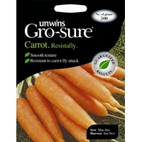 Unwins Gro-Sure Carrot Resistafly Vegetable Seeds