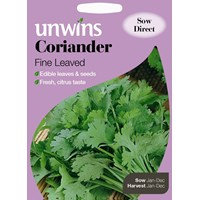 Unwins  Coriander Fine Leaved Vegetable Seeds