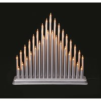 Premier  Modern 33 Light Candle Bridge Tower - Silver