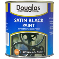 Douglas Decorative Range Satin Black Paint - 500ml