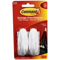 3M Command Oval Hooks - Medium
