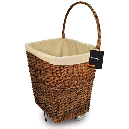 Sirocco  Natural Wicker Firelog Basket - Large