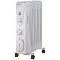Sirocco  Premium 9 Fin Oil Filled Radiator with Timer - 2Kw