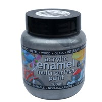 Polyvine  Silver Metallic Enamel Paint - 100ml